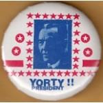 Hopeful 97K - Yorty President !! Campaign Button