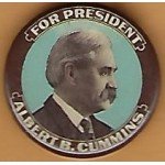 Hopeful 99V - For President Albert B. Cummins Campaign Button