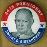 IKE 10D - 34th President Dwight D. Eisenhower Campaign Button