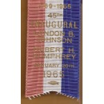 LBJ 5H - Inaugural Committee Lyndon B. Johnson Hubert H. Humphrey January 20th 1965 Medal with Ribbon