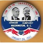 LBJ 9J - 1789 - 45th Inaugural  - 1965  Johnson Humphrey   January  20th  1965  Campaign Button