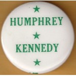 Kennedy RFK 37M - Humphrey Kennedy Campaign Button
