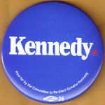 Kennedy EMK 40A - Kennedy Re-Elect Senator Kennedy Campaign Button