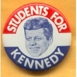 Kennedy JFK 10E - Students For Kennedy Campaign Button
