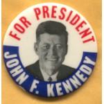 Kennedy JFK 12E - For President John F. Kennedy Campaign Button