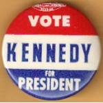 Kennedy JFK 32L - Vote Kennedy For President Campaign Button
