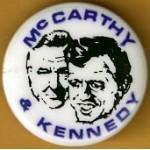 Kennedy RFK 5M - McCarthy & Kennedy Campagin Button