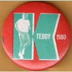 Kennedy EMK 44E - Teddy K 1980 Campaign Button