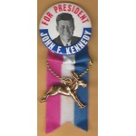 Kennedy JFK 10H - For President John F. Kennedy Campaign Button