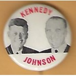 Kennedy JFK 16G - Kennedy  Johnson  Campaign Button