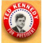 Kennedy EMK 8D - Ted Kennedy For President Campaign Button