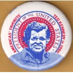 Kennedy EMK 14G - America's Favorite Ted Kennedy in 1980 President Of The United States Campaign Button
