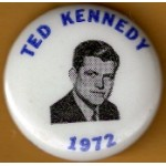 Kennedy EMK 18G - Ted Kennedy In 1972 Campaign Button