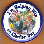 Kerry 10E - I'm Helping Win on Election Day  Campaign Button