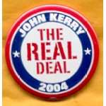 Kerry 13A - John Kerry The Real Deal 2004 Campaign Button