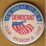 Labor 15D - It's Great To Be A Democrat UAW Labor Button