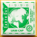 Labor 19A - Earth Day 1990 UAW Campaign Button
