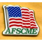 Labor 8C - AFSCME American Flag Lapel Pin