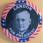 Landon 7B - Landon For President Campaign Button