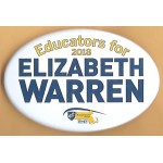 MA 1D - Educators for 2018 Elizabeth Warren Campaign Button
