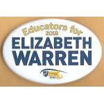 MA 1D - Educators for 2018 Elizabeth Warren Campaign Button