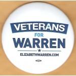 MA 1F - Veterans For  Warren Campaign Button