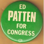 NJ 11N - Ed Patten For Congress Campaign Button