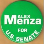 NJ 16N - Alex Menza For U.S. Senate Campaign Button