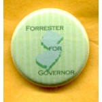 NJ 19E  - Forrester For Governor Campaign Button