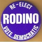 NJ 21M - Re-Elect Rodino Vote Democratic Campaign Button
