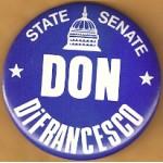 NJ 22N - State Senate Don DiFrancesco Campaign Button