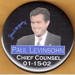 NJ 29N - James E McGreevey Paul Levinsohn Chief Counsel 01-15-02 Campaign Button