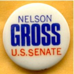 NJ 34B - Nelson Gross U.S. Senate Campaign Button