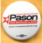 NJ 35E - United States Senate Pason Vote Socialist in 2012 Campaign Button