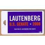 NJ 41G - Lautenberg U.S. Senate 2008 Luggage Tag