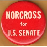 NJ 49D - Norcross for U.S. Senate Campaign Button
