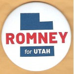 Utah 1A - Romney for Utah Campaign Button