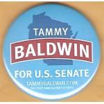 W1 2B - Tammy Baldwin For  U.S. Senate Campaign Button