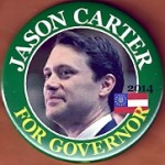 GA  2B - Jason Carter For Governor 2014 Campaign Button