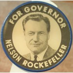 NY 1X - For Governor Nelson Rockefeller For U.S. Senator Ken Keating Flasher Campaign Button