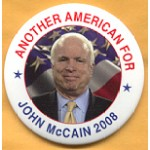McCain 2A - Another American For John McCain 2008 Campaign Button