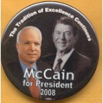 McCain 14A - McCain for President 2008 Campaign Button