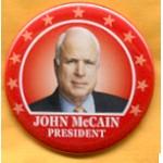 McCain 25B  - John McCain President Campaign Button