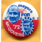 McGovern 17C  - mayors For  McGovern '72 Campaign Button