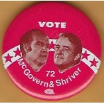 McGovern 21J  - Vote McGovern & Shriver 72 Campaign Button