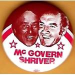 McGovern 9J  - McGovern Shriver Campaign Button