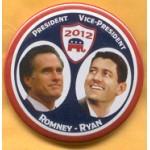 Romney 9B - President Vice-President Romney - Ryan Campaign Button