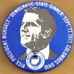 Mondale 8N  - Vice President Mondale - Democratic State Dinner Campaign Button