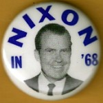 Nixon 2H - Nixon In '68 Campaign Button