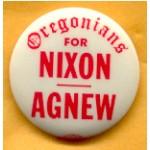 Nixon 31B - Oregonians For Nixon Agnew Campaign Button
